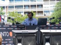 Año 2009. Programa especial en Punto Radio desde el Santiago Bernabéu.