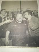 Abril 1997 recorte de periódico. Retransmisión en directo del ascenso del Naranco a Asobal