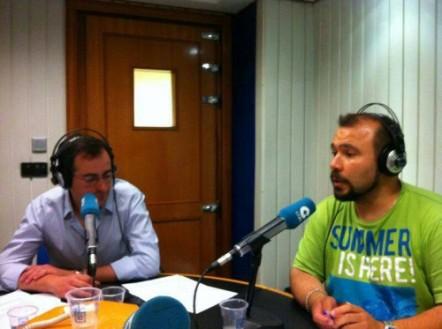 Año 2014. Grabando programa deportivo en los Estudios Centrales de COPE en Madrid