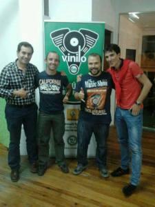 Año 2013 con Luis Pasamontes en Vinilo FM