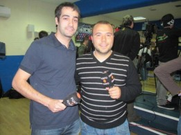 Año 2011. En la sala de prensa del Getafe con Luis Ángel Cordero